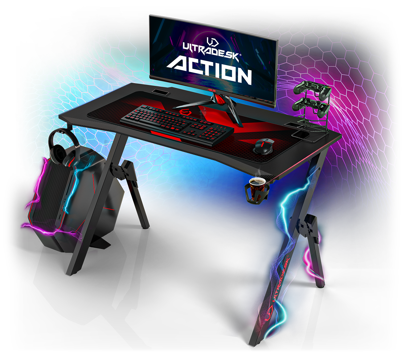 Gaming Desk Computer Table For Gamer Shop Ultradesk Europe